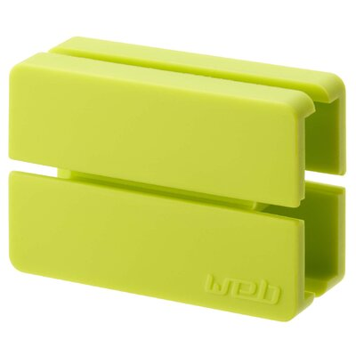 Web Cord Wrap Size: 0.7 H x 2 W x 1.2 D, Color: Green