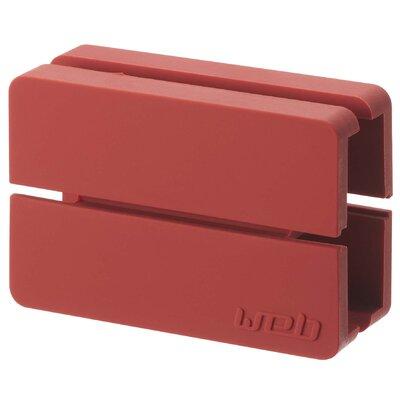 Web Cord Wrap Size: 0.7 H x 2 W x 1.2 D, Color: Red