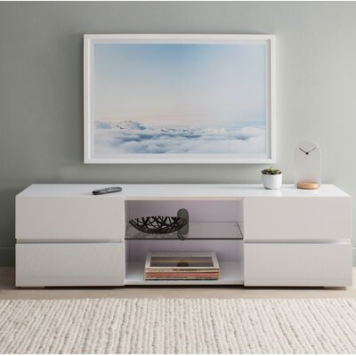 Kenilworth 55 TV Stand Color: White