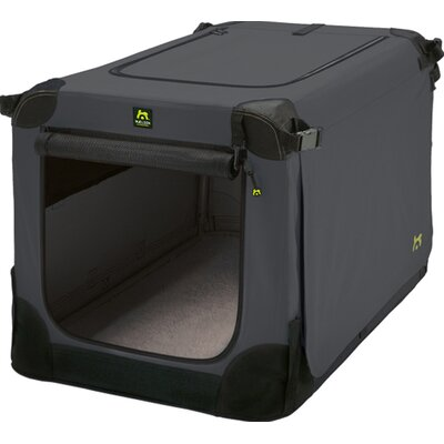 Maelson Soft Kennel Size: 13 H x 13 W x 20 L, Color: Black / Anthracite