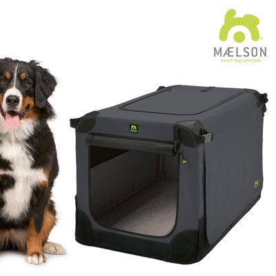 Soft Kennel Size: 30.3 H x 33.9 W x 48 L, Color: Black / Anthracite