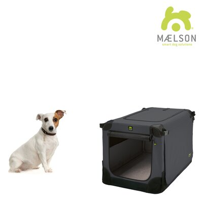 Soft Kennel Size: 13 H x 13 W x 20 L, Color: Black / Anthracite