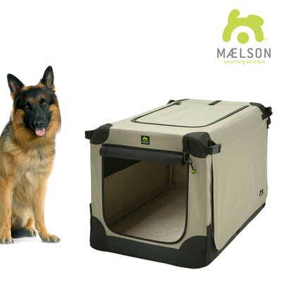 Maelson� Soft Kennel Size: 31.9 H x 28.3 W x 42 L, Color: Black / Tan