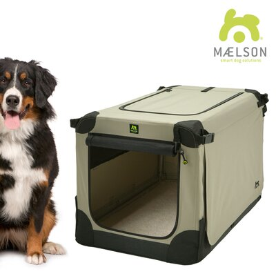 Soft Kennel Size: 30.3 H x 33.9 W x 48 L, Color: Black / Tan