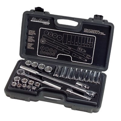 "Blackhawk 26 Piece Standard Socket Sets - set skt 26 pc 1/2"" dr 6pt std deep sae at Sears.com"