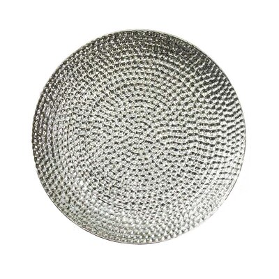 Ceramic Hammered Plate Size: 1.75