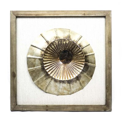 Metallic Circle Framed Art 10908