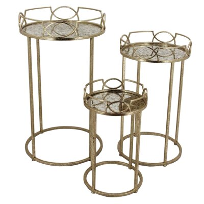 3 Piece Side End Table Set