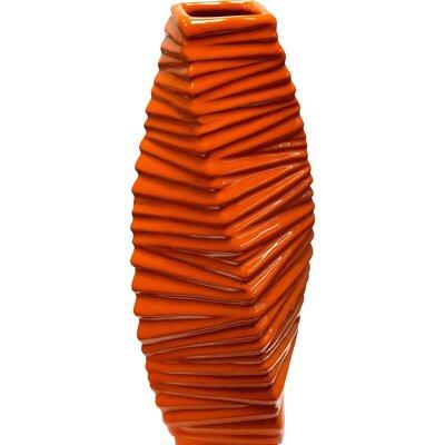 Grady Vase Color: Orange