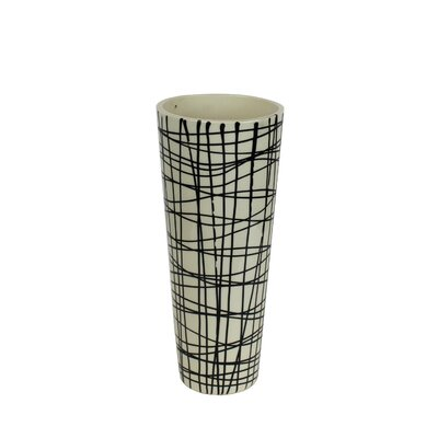 Decorative Ceramic Tapered Vase Size: 12.25