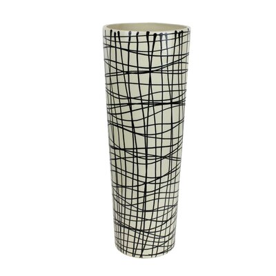 Decorative Ceramic Tapered Vase Size: 18.25