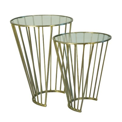 Valery 2 Piece Metal End Table Set