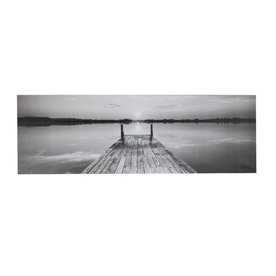 'Sunset Pier' Rectangle Photographic Print on Canvas LOPK2273 40622673
