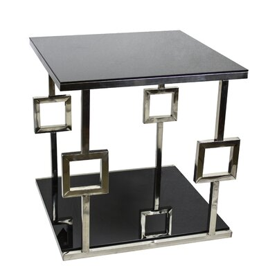 Berkshire Chrome Glass End Table
