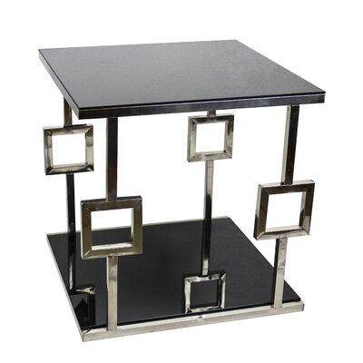 Berkshire Chrome Glass End Table