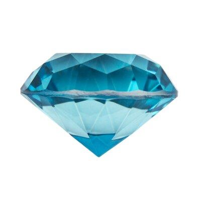 Decorative Glass Diamond Sculpture Size: 1.75