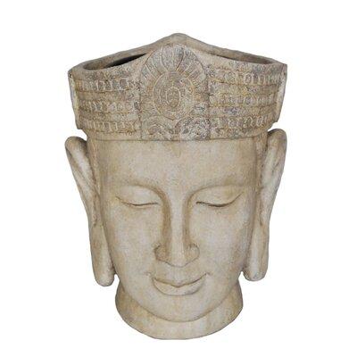 Decorative Buddha Head Flower Resin Statue Planter 13029-02