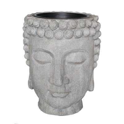Decorative Buddha Head Flower Resin Statue Planter 13029-03