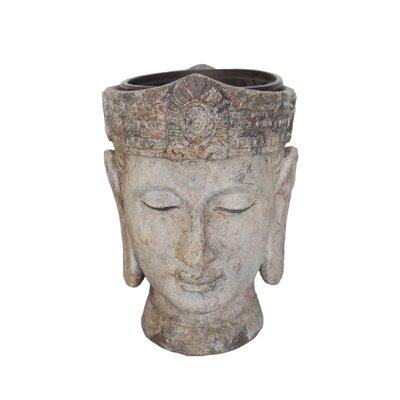Decorative Buddha Head Flower Resin Statue Planter 13029-04