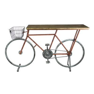Winslow Bicycle Console Table Finish: Brown