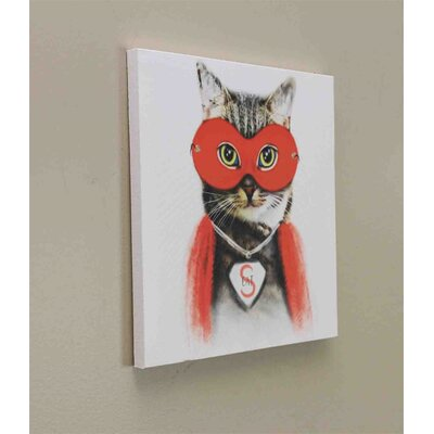 'Super Cat' Graphic Art Print on Canvas