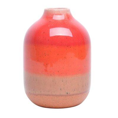 Orange Decorative Ceramic Table Vase Size: 6.5