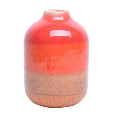 Orange Decorative Ceramic Table Vase Size: 7.75