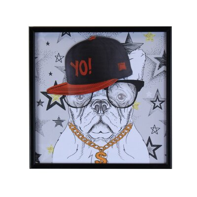 'Yo Dog' WildLife Framed Graphic Art Print on Canvas
