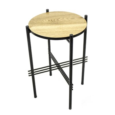 Metal & Wooden End Table