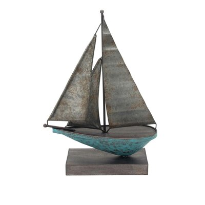 Wrigley Metal Sail Boat Sculpture