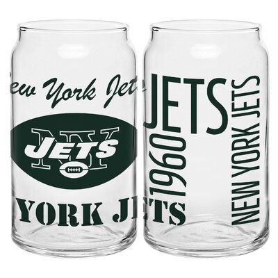 NFL Set 16 Oz. Pilsner Glass NFL Team: New York Jets 187595