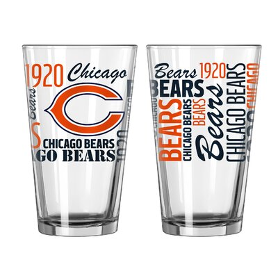 NFL 16 Oz. Pint Glass NFL Team: Chicago Bears 187643