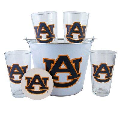 NCAA 9 Piece Gift Bucket Set NCAA Team: Auburn University Tigers