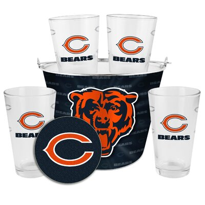 NFL 9 Piece Gift Bucket Set NFL Team: Chicago Bears 180746
