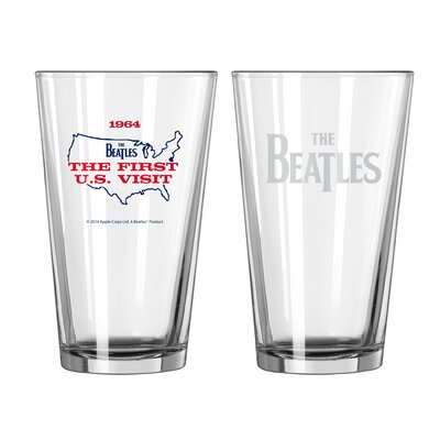 Beatles US Visit Collectible Pint Glass