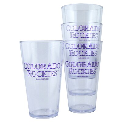 Colorado Rockies 16 oz Drinkware Set BOBBCOLT4
