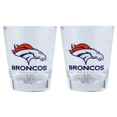 NFL Shot Glass Cup NFL Team: Denver Broncos BOFBDENSH