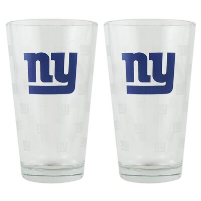 NFL Pint Glass Cup NFL Team: New York Giants BOFBNYGPI