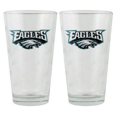 NFL Pint Glass Cup NFL Team: Philadelphia Eagles BOFBPHIPI