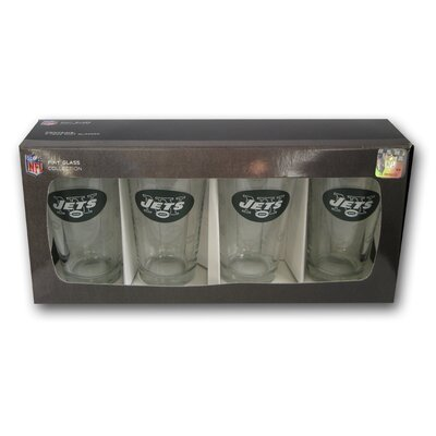 NFL Pint Glass NFL Team: New York Jets BOFBNYJPI4