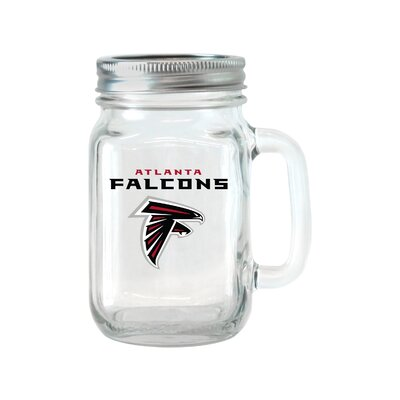 NFL Glass 16 oz. Mason Jar NFL Team: Atlanta Falcons 187411