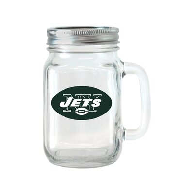 NFL Glass 16 oz. Mason Jar NFL Team: New York Jets 187414