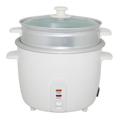 Electric Rice Cooker with Steamer Cup Size: 5 Cups 5281-05
