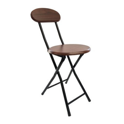 18 Bar Stool Leg Finish: Black, Finish: Cherry