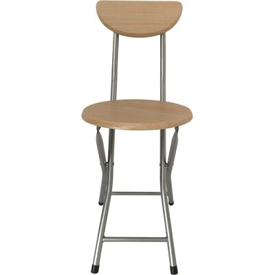 18 Bar Stool Finish: Beech, Leg Finish: Silver