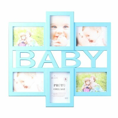 Blue Baby 6 Piece Picture Frame Set 2895-BB Blue