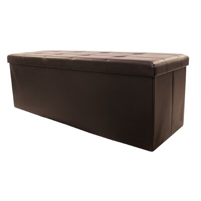 Collapsible Storage Ottoman Upholstery: Brown