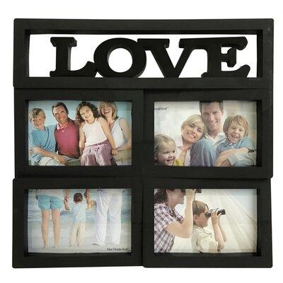 Love Collage Picture Frame Color: Black W26504-BLACK