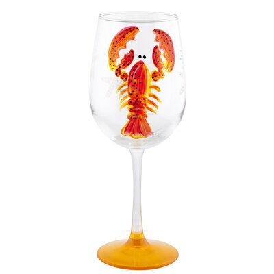 Lobster Wine Glass Color: Red 01REDLOBL