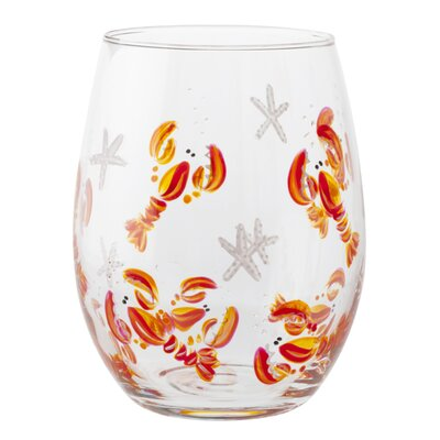 Lobster Wine Glass Color: Red 15BUREDLOB